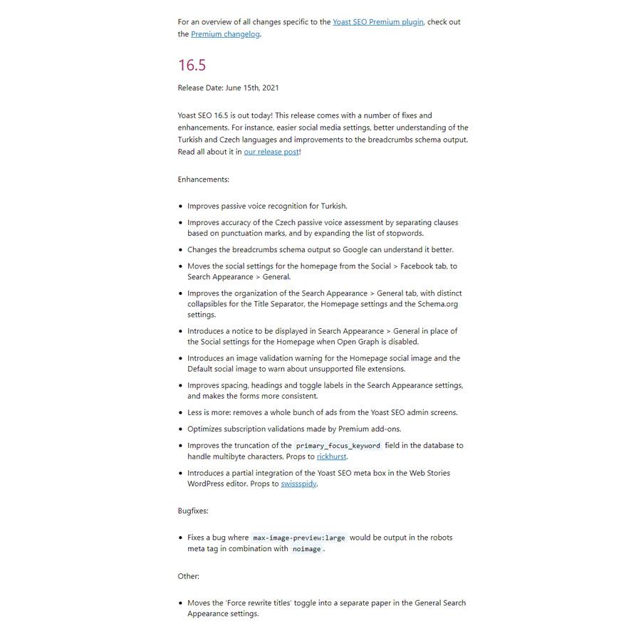 افزونه یوآست سئو- تغییرات نسخه 16.5